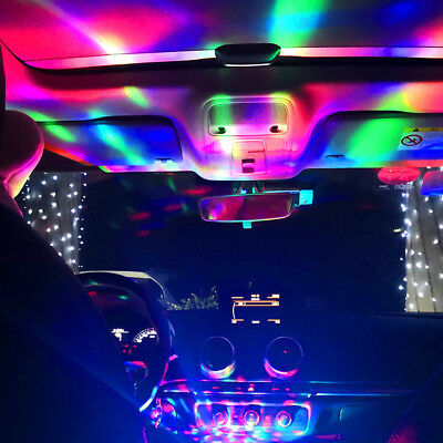 Truck Car Interior Atmosphere Neon Lights Colorful LED USB RGB Decor Lamp Top