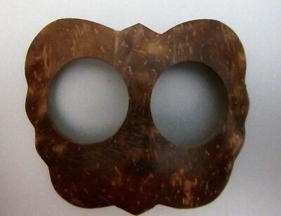 Coconut Shell Buckle To Secure Sarong / Scarf Butterfly Shape New