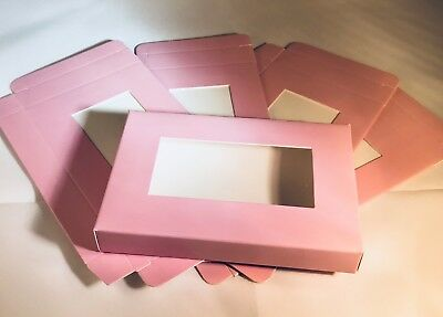 Tea light Candle Gift Box Packaging Standard Holds 6 T/Lights  Pink 5pcs NEW