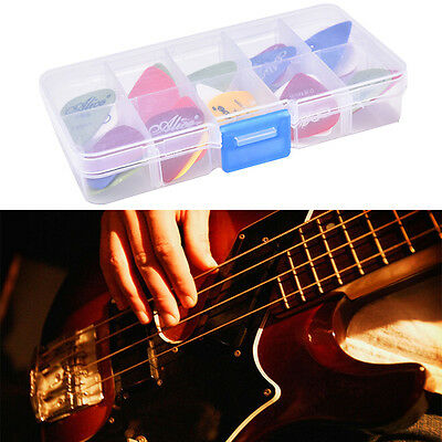 24X Acoustic  Guitar Picks Plectrums w/ Pick Case Assorted 6 thickness  VQ