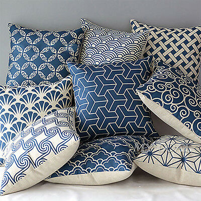 Bohemian Moroccan Geometric Linen Pillow Case Throw Waist Cushion Cover Smart
