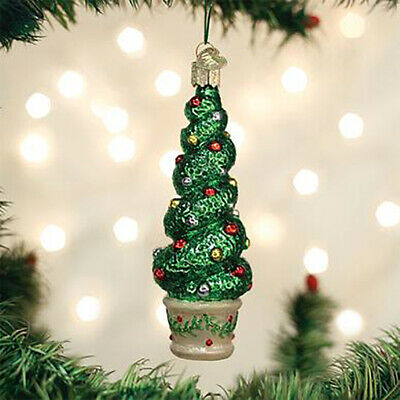 Old World Christmas Hanging Tree Ornament, Holiday Topiary