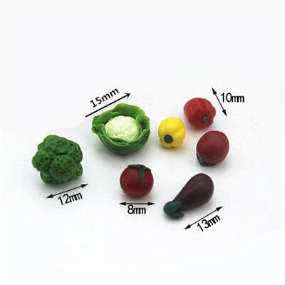 7pcs/set Dollhouse Miniatures Fruits Vegetable Food Kitchen Accessories Decor