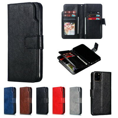 For iPhone X 6 6s 7 8 Plus Flip Leather Men's Wallet Card Stand Case Full Cover