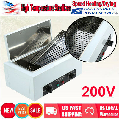 High Temperature Nail Clean Sterilizer Box Nail Dental Tool Disinfection 110V US