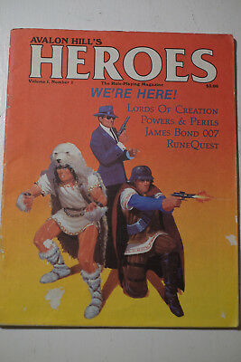 Avalon Hill Heroes Magazine Vol 1, No 1, mit Lords of Creation Szenario