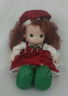 """QVC Exclusive Precious Moments 1999 Christmas Holly Stocking Doll 16"""" NWT"""
