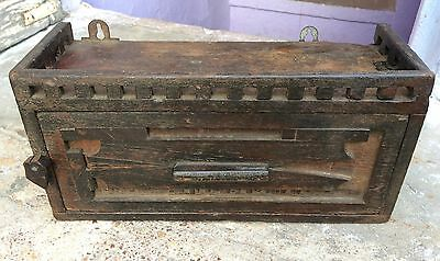 Antique Rare Hand Crafted Wooden Victorian Dressing Drawer-English Furniture