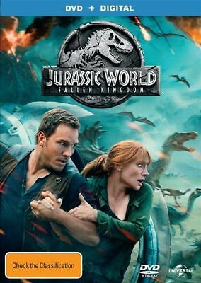 Jurassic World Fallen Kingdom DVD NEW Region 4 Chris Pratt