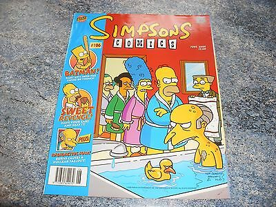 The Simpsons June 2005 Comic 106 Complete With Pull Out