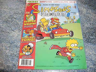 The Simpsons February 2005 Comic 102 Complete With Pull Out Plaid To The Bone