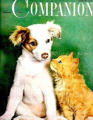 February 1948 Woman's Home Companion Magazine-Great Vintage Ads-Rare