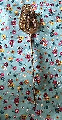 Pre-owned Silver Plate Pastry Biscuit Sweets Tongs