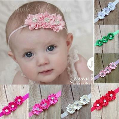 10 Baby Girls Flower Hairband Soft Elastic Headband Gifts Hair Accessories Band