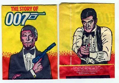JAMES BOND The Story of 007 Empty Monty Trading card wrapper. Lot of 2