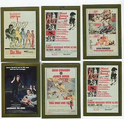 JAMES BOND Connoisseur's Collection Trading Card Poster Chase card lot of 6