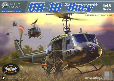 "2018 Hot Sale Kitty Hawk KH80154 1/48 UH-1D ""Huey"" model kit"