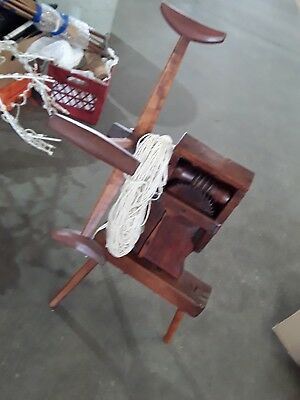 Antique Primitive Americana Yarn Winder Hand Carved Wooden