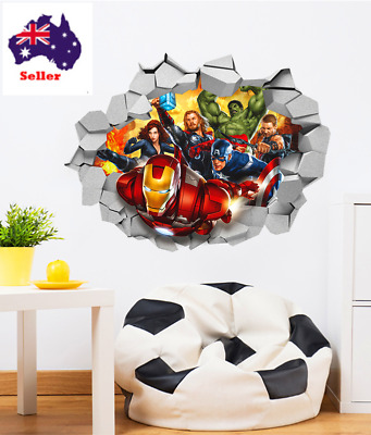 3d Marvel's Avengers super hero wall stickers for kids room wall decals