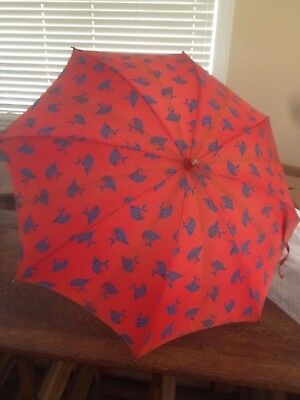 Vintage Umbrella Red Hooded Girl Scarf     RARE !!!