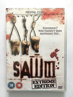 SAW III- Extreme Edition-  New/sealed HORROR DVD FREEPOST / FULLY GUARANTEED
