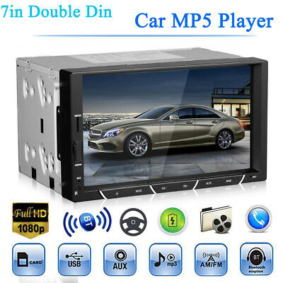 7'' Double Din Car DVR Stereo MP5 Player Bluetooth FM Radio AUX U Disk Head Unit