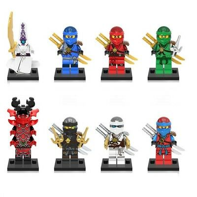 Ninjago Mini figures Jay, Kai, Lloyd, Cole, Nya, Zane, Wu, Pythor, Kozu for Lego