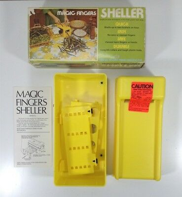 Magic Fingers Pea and Bean Sheller 711 Complete in Original Box w/ Instructions