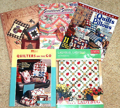 Lot Of Five Quilting Book Patterns - Nice!