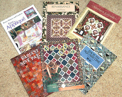 Lot Of Six Quilting Book Patterns - Nice!