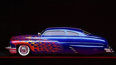 "Mercury lowrider retro classic fire custom hot rod rods Mini Poster 24"" x 16"""