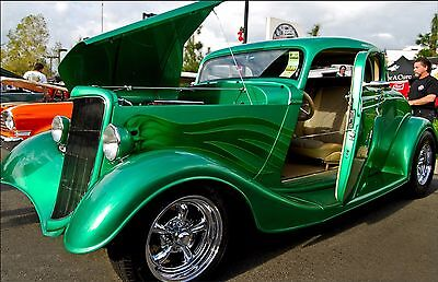 "Classic Green Ford Hot Rod  Car Mini Poster 24""x36"" HD"