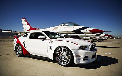 "Thunderbirds Ford Mustang GT Canvas Matte Print 23"" x 33"""