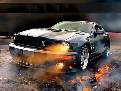 "Ford Mustang RoadsMuscle Hot Rod Tuning Mini Poster 13/""x19/"" HD"
