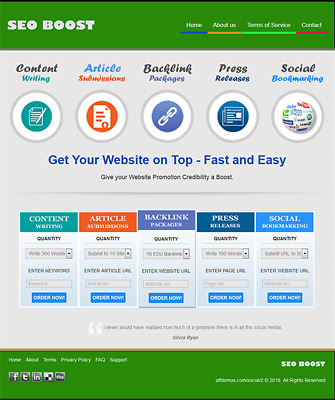 SEO SERVICES RESELLER - Newbie Friendly Website For Sale - Free Installation