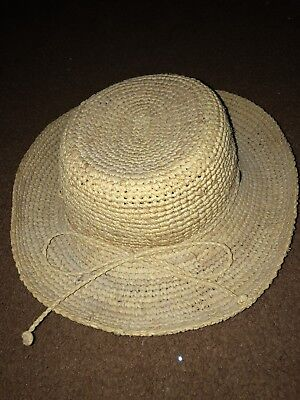 c533c5d33a03c THE SCALA COLLECTION Womens Straw Sun Hat Natural Fiber Ribbon ...