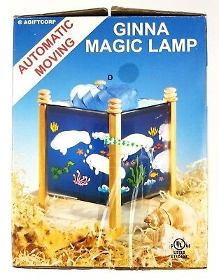 "AGIFTCORP Ginna Magic Lamp Automatic Moving ""American Manatee"" Night Light"
