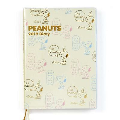Snoopy B6 Diary 2019 block type Monthly Schedule Planner notebook Peanuts F/S