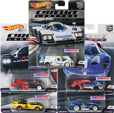 2018 Hot Wheels CIRCUIT LEGENDS Car Culture 5 car set * IN STOCK
