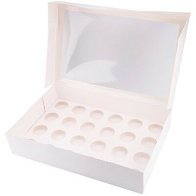 24 HOLE STANDARD CUPCAKE WINDOW BOX 24 Muffin box mit Fenster