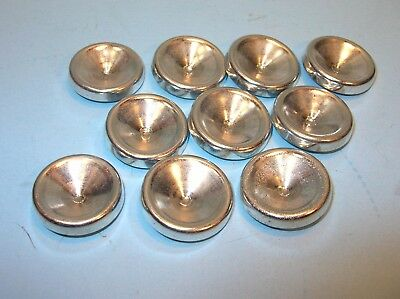 "SET of 10 D-CELL SIZE CONCAVE FREEZE PLUGS ..1.35"" / 34.3mm X .20"" / 5.2mm"