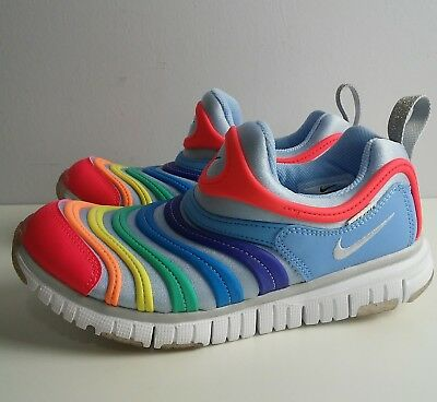 NIKE DYNAMO FREE Rainbow Multi Color Girls Sneakers Size US