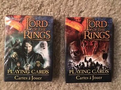 2 Sealed Decks of Lord of the Rings Playing Cards NEW