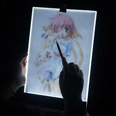 USB 3.5mm A4 LED Light Box Tracing Board Art Stencil Drawing Copy Pad Dimmable