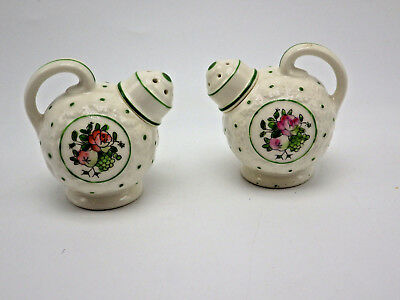 Ceramic Watering Cans Salt Pepper Shakers Japan spout unscrews