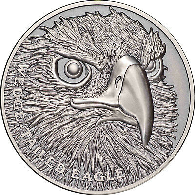 Niue 2019 Australia Wedge-Tailed Eagle Wildlife Up Close $1 1 Oz Silver Antiqued