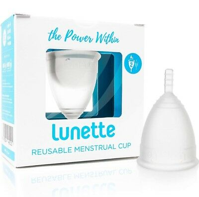 Lunette Menstrual Cup Model 2 for Medium to Heavy  Flow  Clear Reusable  Diva