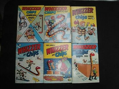 Vitage Whizzer & Chips Annuals 1980-1985