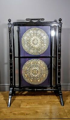 """49"""" Large Aesthetic Movement Screen with Embroidered Panels"""