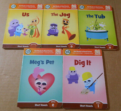 Leap Frog Tag Junior books lot of 5 NO reader pen short vowels